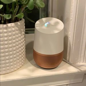 Google Home with Copper Base